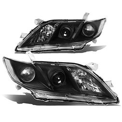 For 07-09 Camry Black Housing Clear Corner Projector Headlig