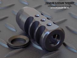 1/2x28 9mm muzzle brake muzzle device w/ free crush washer.