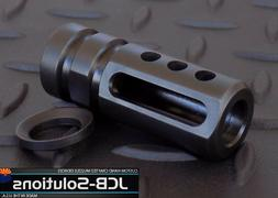 1/2x28  9mm muzzle brake with free crush washer. Custom Made