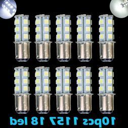 10x Super White T25/S25 1157 Bay15d 18-SMD 5050 LED Tail Bra