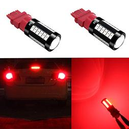 Alla Lighting 2800lm 3156 3057 3157 LED Red Turn Signal Brak