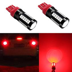 Alla Lighting 2800lm 7440 7443 LED Red Signal Brake Stop Lig