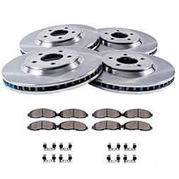Detroit Axle - 5-LUG FRONT & REAR Brake Rotors & Ceramic Bra