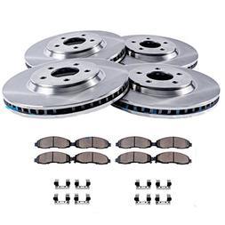 Detroit Axle - FRONT & REAR Brake Rotors & Ceramic Brake Pad
