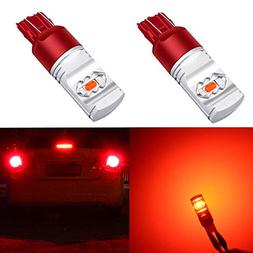 Alla Lighting 3800lm Xtreme Super Bright T20 7440 7443 Red L