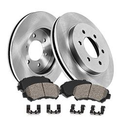 FRONT 301.8 mm Premium OE 6 Lug  Brake Disc Rotors +  Ceram