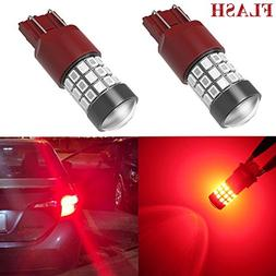 Alla Lighting 7440 7443 LED Strobe Brake Lights Bulbs Super