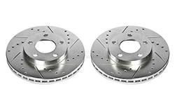 AR8141XPR Brake Rotors, Drilled/Slotted, Iron, Zinc Dichroma