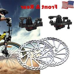 Bike Disc Brake Front & Rear Disc 160mm Rotor Brake Kit for