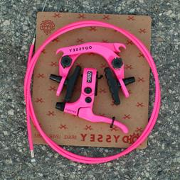 ODYSSEY BMX BIKE EVO 2.5 BICYCLE U-BRAKE KIT HOT PINK EVOLVE