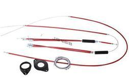BMX Bike Gyro Brake Cables Front + Rear  Spinner Rotor Set K