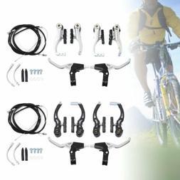 BMX Mountain Bike Alloy Levers V Brakes Cables  Caliper Full