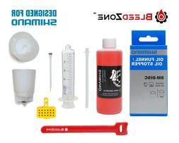Shimano Brake Bleed Kit 100ml Mineral Oil Funnel Stopper Sil
