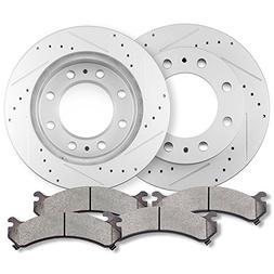 Brake kits,ECCPP Front 2pcs Discs Brake Rotors and 4pcs Cera
