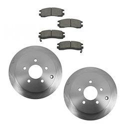 Brake Pad Rotor Ceramic Rear Kit for Venture Rendezvous Azte