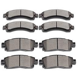 SCITOO Brake Pads, 8pcs Ceramic Disc Brake Pad Kit fit Buick