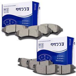 Brake Pads Discs Kits,ECCPP 8pcs Front Rear Ceramic Disc Bra