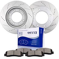 Brake Rotors Brakes Pads Kits,ECCPP 2pcs Front Discs Brake R