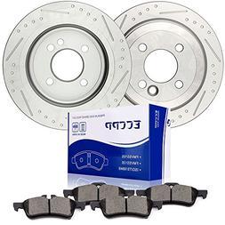 Brake Rotors Pads Kits,ECCPP 2pcs Rear Discs Brakes Rotors a