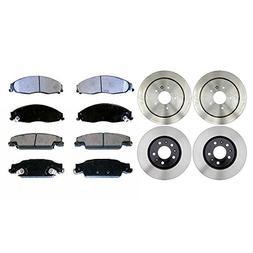Prime Choice Auto Parts BRAKEPKG380 Front and Rear Set of 4