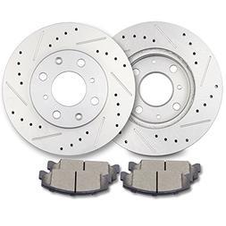 ECCPP Brakes and Rotors, 2pcs Front Discs Brake Rotors and 4