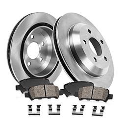 REAR 322 mm Premium OE 5 Lug  Brake Disc Rotors +  Ceramic