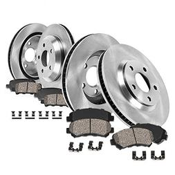 Callahan CRK02100 FRONT + REAR Brake Rotors + Ceramic Pads +