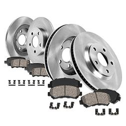 FRONT 281 mm + REAR 289 mm Premium OE 5 Lug  Rotors +  Quiet