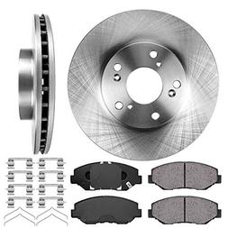 Callahan FRONT 282 mm Premium OE 5 Lug  Brake Rotors +  Cera