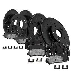CCK01783 FRONT + REAR Powder Coated Black  Calipers +  Black