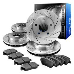 Eline Drilled Slotted Brake Rotors + Ceramic Pads Kit Bmw 32