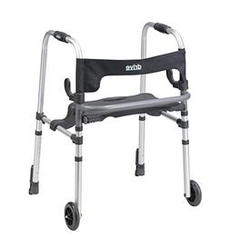 Drive Medical Clever-Lite LS Rollator Walker with Seat and P