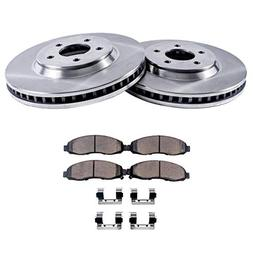 Detroit Axle - Front Brake Rotor Set & Brake Pads w/Clips Ha