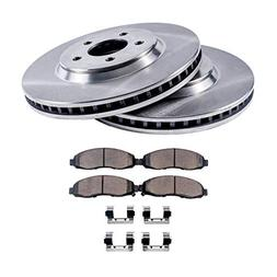 Detroit Axle - Complete FRONT Brake Rotors & Ceramic Brake P