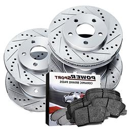 Power Sport Cross Drilled Slotted Brake Rotors and Ceramic B