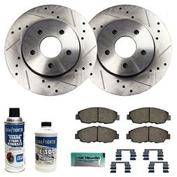 Detroit Axle - Drilled & Slotted Front Brake Rotors Performa