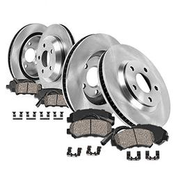 FRONT 300 mm + REAR 294 mm Premium OE 5 Lug  Rotors +  Cera