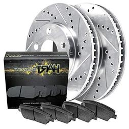 Fits Ford F-150, Expedition Front Drill Slot Brake Rotors+Ce