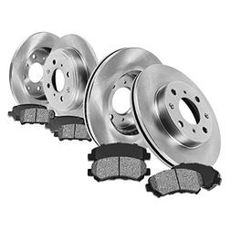 FRONT 256 mm + REAR 226 mm Premium OE 4 Lug  Rotors +  Metal