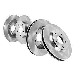 FRONT 296 mm + REAR 281 mm Premium OE 5 Lug  Brake Disc Roto