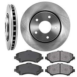 FRONT 302 mm Premium OE 5 Lug  Brake Disc Rotors +  Metallic
