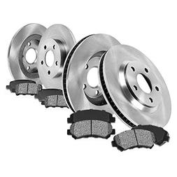 FRONT 295.8 mm + REAR 270 mm Premium OE 5 Lug  Rotors +  Met