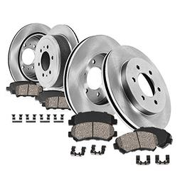 FRONT 301.8 mm + REAR 324 mm Premium OE 6 Lug  Rotors +  Qu
