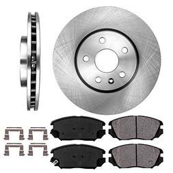 FRONT 321 mm Premium OE 5 Lug  Brake Disc Rotors +  Ceramic