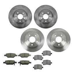 Front & Rear Posi Ceramic Brake Pad & Rotor Kit Set for Chev
