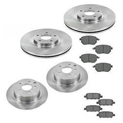 Front & Rear Premium Posi Ceramic Brake Pad & Rotor Kit Set
