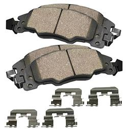 Detroit Axle - Front Ceramic Brake Pads w/Hardware for 2005-
