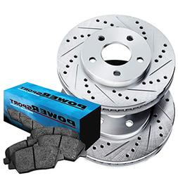 front cross drilled slotted brake rotors disc
