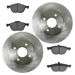 Front Disc Brake Pad & Rotor Kit Set for 05-07 Ford Focus