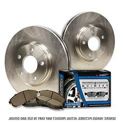 2 OEM Replacement Great-Life Premium Disc Brake Rotors + 4 S